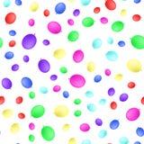 A cor realística balloons o projeto liso do teste padrão sem emenda Ilustração do vetor imagem de stock royalty free