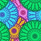 Cor sem emenda Mandala Pattern do vetor ilustração stock