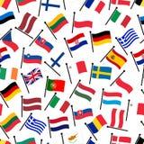 A cor simples curvada embandeira todo o teste padrão sem emenda eps10 dos países da União Europeia Fotografia de Stock Royalty Free