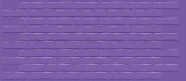 Cor ultravioleta do ano 2018 Textura roxa da parede de tijolo Fundo vazio rachado ilustração royalty free