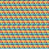 A cor vívida repetida cuba o fundo Papel de parede geométrico das formas Projeto de superfície sem emenda do teste padrão com pol ilustração stock