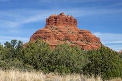A cor vermelha brilhante da rocha de Bell Fotografia de Stock
