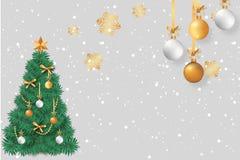 Cor vermelha do cartão bonito do Natal ilustração royalty free