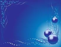 Cor vermelha do fundo do brinquedo da árvore de Natal Imagens de Stock