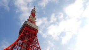 Cor vermelha e branca da torre do Tóquio Foto de Stock
