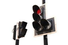 Cor vermelha no sinal Fotos de Stock