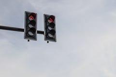 Cor vermelha no sinal Fotografia de Stock