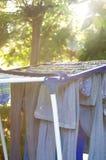 A cor veste parte externa de secagem Fotografia de Stock