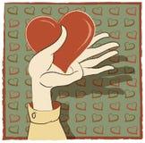 Coração à disposicão Fotografia de Stock