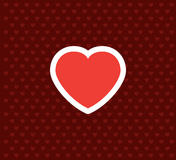 Coração Ícone do dia do ` s do Valentim Ilustração do vetor do amor Fotografia de Stock