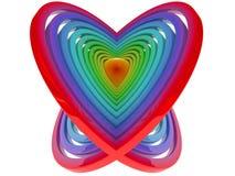 coração 3D ilustração stock