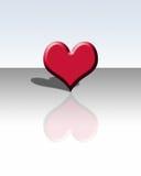 coração 3D e reflexão Ilustração Stock