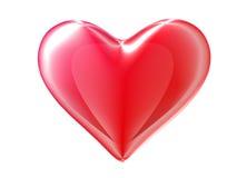 Coração 3d vermelho. Trajeto de grampeamento incluído. Imagens de Stock Royalty Free