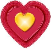 Coração 4 do Valentim Imagem de Stock Royalty Free