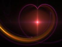 Coração abstrato Fotos de Stock