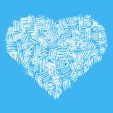 Coração abstrato ilustração do vetor
