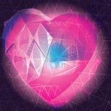 Coração abstrato Fotografia de Stock Royalty Free