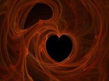 Coração abstrato da flama ilustração stock