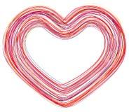 Coração abstrato do amor Foto de Stock