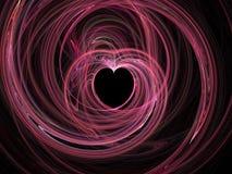 Coração abstrato do fractal ilustração stock
