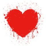 Coração abstrato do grunge Imagens de Stock Royalty Free