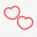 Coração abstrato isolado em um fundo transparente Elemento do projeto para eventos festivos ilustração royalty free