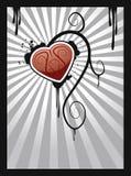 Coração abstrato no estouro da raia Imagens de Stock