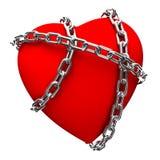 Coração acorrentado Fotografia de Stock Royalty Free