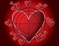Coração-alvo Imagem de Stock