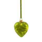Coração amarelo do Natal isolado no ano novo do fundo branco Imagem de Stock Royalty Free
