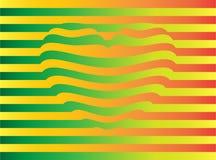 Coração amarelo-verde-alaranjado alongado Fotografia de Stock Royalty Free