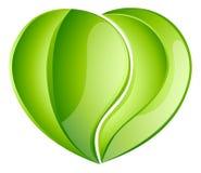 Coração ambiental da folha do amor da caridade Imagens de Stock Royalty Free