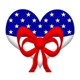 Coração americano Imagens de Stock