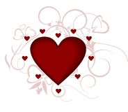 Coração, amor, o dia do Valentim Imagem de Stock Royalty Free