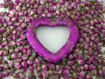 Coração & rosas Fotografia de Stock Royalty Free