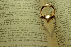 Coração, anel imagem de stock