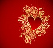 Coração ao St.Valentine. Vetor Fotos de Stock