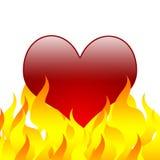 Coração ardente [02] Fotografia de Stock Royalty Free