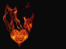 Coração ardente Fotos de Stock