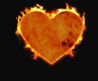 Coração ardente 1 Fotos de Stock Royalty Free
