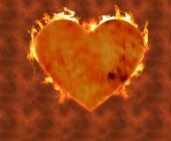 Coração ardente 2 Fotos de Stock
