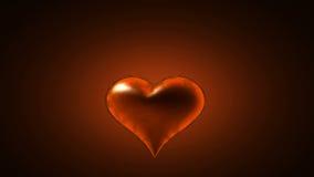 Coração ardente. Vídeo emaranhado alfa ilustração royalty free