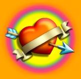 Coração/arrow2 Fotografia de Stock Royalty Free