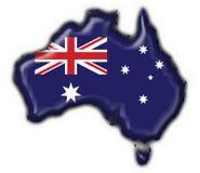 Coração australiano do mapa da tecla Fotos de Stock