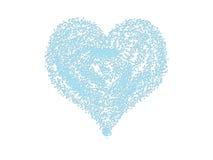 Coração azul ilustração royalty free