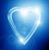 Coração azul Fotografia de Stock