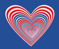 Coração azul com estrela ilustração royalty free