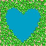 Coração azul da forma das madeiras do lago Imagem de Stock Royalty Free