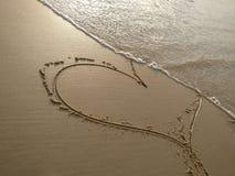 coração beachy fotos de stock
