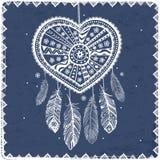 Coração bonito do dia de Valentim ilustração do vetor